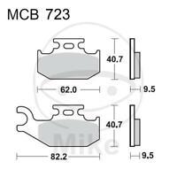 TRW Bremsklotz Bremsbelag Sinter SI MCB860SI Motorrad Bremsbeläge
