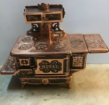 "J&E Stevens Copper Plated Cast Iron ""Rival"" Childs/Salesman Stove, Original"