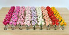 Luxury Roses Flowers Vase Bouquet Pot Wine Mother Day Dolls House Miniature