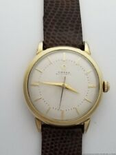 Omega Automatic Vintage Screw Back Sweep Seconds Hand Mens Watch w Signed Buckle