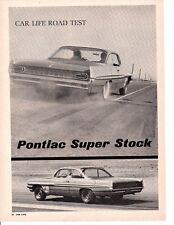 1961 PONTIAC SUPER STOCK CATALINA 389/348 HP ~ 4-PAGE ROAD TEST / ARTICLE / AD