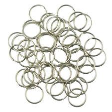 50pcs Key Rings Split Ring Hoop Metal Loop Diy Craft Accessories 1.2x18mm