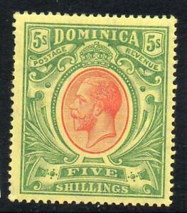 DOMINICA 1914 GV 5s LMM SG 54 Cat. £60