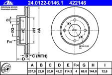 Disco freno (2 pezzi) - ATE 24.0122-0146.1