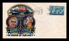 DR JIM STAMPS US HALSEY NIMITZ NAVY FIRST DAY COVER SCOTT 935 UNSEALED