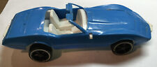 Vintage Gay Toys Inc Plastic Blue Chevy Corvette, 7 1/2