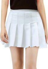 Womens Teens School Girl Uniforms Solid Pleated Mini Skirt Size Large (J11)