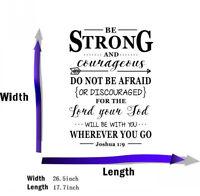 Joshua 1:9 Bible Verse Vinyl Wall Stickers Decals Scripture Quote Word Art Decor