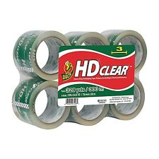 """Duck Brand HD Clear High Performance Packaging Tape 3"""" x 54.6 Yd 6-Pack (307352)"""