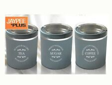 Jaypee Classique-3 Coffee Tea & Sugar Containers Canister Kitchen Storage Tins