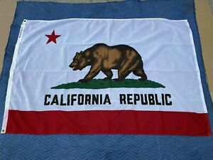 Vintage Dettra Flag Co. CALIFORNIA Republic Bear State Flag 4'x6' - USA Made