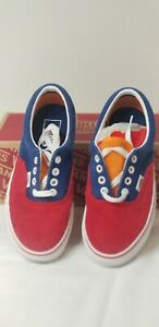 Vans Era (Corduroy Blue Red Yellow NEW IN THE BOX Sneakers