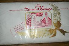 2  Alte   Bettbezüge   Damast  Maiglöckchen  WITT WEIDEN  UNBENUTZT Vintage