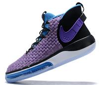 Nike AlphaDunk Basketball Shoes Voltage Purple Black BQ5401-900 Men's Size 11