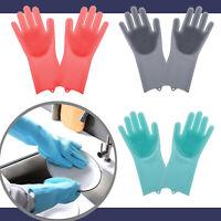 Putzhandschuhe Silikon Gummi Handschuhe Geschirr Spülhandschuhe Gummihandschuhe