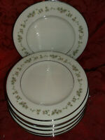 LENOX BROOKDALE 7 BREAD AND BUTTER  B & B PLATES.....EXCELLENT CONDITION!