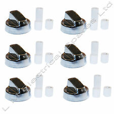6 X Universal Silver Chrome Steel Belling Bosch Cooker Oven Hob Control Knob