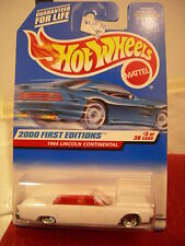 Hot Wheels 1964 Lincoln Continental 2000 First Editions White