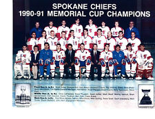 1990 1991 Spokane Chiefs 8X10 Team Photo Memorial Cup Cahamps Falloon Whitney