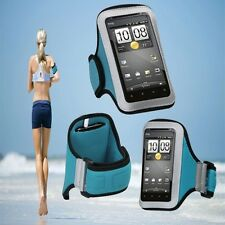 "Sports Armband Jogging Arm Case Blue Protector for ThL W8 5"" Android Smart Phone"