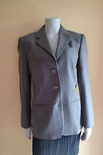 giorgio armani  GRAY BLAZER, Ladies Jacket, SIZE 40, wool VESTIMENTA SPA cd
