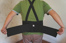 HEAVY LIFT LUMBAR LOWER BACK & WAIST SUPPORT BELT BRACE W/SUSPENDERS (M) USA