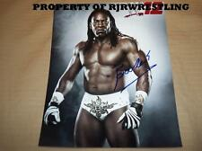 Wwe Booker T Signed 8x10 Glossy Photo Promo W/Coa Hall Of Famer 5x Wcw Champion