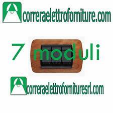 BTICINO LIVING INTERNATIONAL - placca 7 Moduli legno ciliegio americano L4807LCA