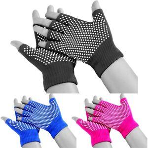 Fitex Yoga Fingerless Gloves Non Slip Grip Sticky Sport Gym Home Exercise Wool
