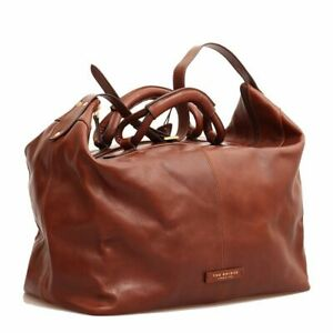 Carryall Bag Trip The Bridge Man Leather Made IN Italy 50x38x27 CM Brown
