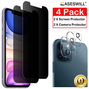 For iPhone 12 mini 11 Pro X XS Max XR 9H Tempered Glass Privacy Screen Protector