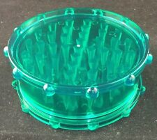 "Two Piece Mega Plastic Grinder Shark Tooth XL BIG 4"" Wide Acrylic Green, Tobacco"