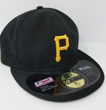 Pittsburgh Pirates New Era 59Fifty Size 7.5 Fitted Hat Black MLB Baseball