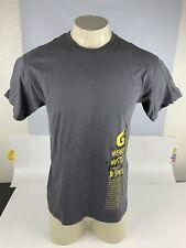 Gatorade Heart Hustle & Soul Gray Graphic T Shirt Men's Medium Size Cotton