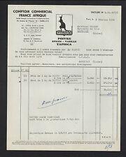 """PARIS (I°) POIVRE EPICE VANILLE Kangourou """"COMPTOIR FRANCE AFRIQUE"""" en 1954"""