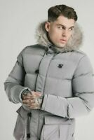 SikSilk Men's Puff Parka Jacket Ice Grey. Medium. RRP £145