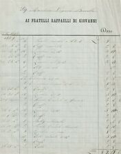Antica Ricevuta di Droghiere Lucchese ai Marchesi Boccella 1859