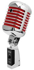 Dinámico DJ PA vintage canto micrófono retro micro rockabilly MIC micro rojo