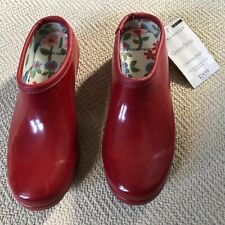 Laura Ashley red garden clogs, EU37, US6.5M NWT