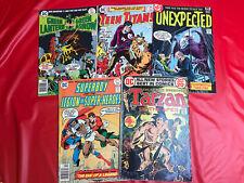 Dc Comics Bronze Age (1972-78) Lot Of 5 - Mixed Comics Horror, Superhero, Action