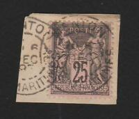 FRANCE -----PEACE & COMMERCE ,  25c  [on piece]  Used