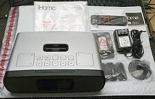 IHOME IP90 DUAL ALARM AM/FM CLOCK RADIO FOR IPHONE/IPOD (SILVER) - IP90SZC