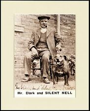 STAFFORDSHIRE BULL TERRIER OLD MAN AND DOG GREAT PRINT MOUNTED READY TO FRAME