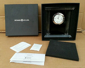 NIB Howard Miller Colonnade Glass Desk Clock  645-745 (645745) MSRP: $145.00