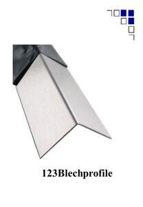 Dachblech Winkel Firstblech 1mm Alu Edelstahl Alu eloxiert Alu Ral 2m lang