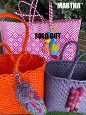KOLAVAL Mexican Handmade Woven Plastic Tote Bag (NEW)
