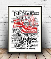 Tamla Motown 2 :  Names and Song Titles Spelled out in poster, Wall art.