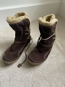 Timberland leather Ankle Boots Brown Lined Warm