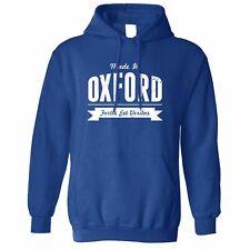 Ciudad natal Pride Sudadera Con Capucha Hecho en diseño de logotipo Oxford Banner Novedad Eslogan