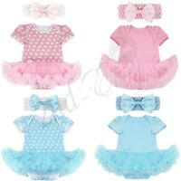 Newborn Infant Baby Girls Outfit Clothes Romper Jumpsuit Bodysuit Dress Headband
